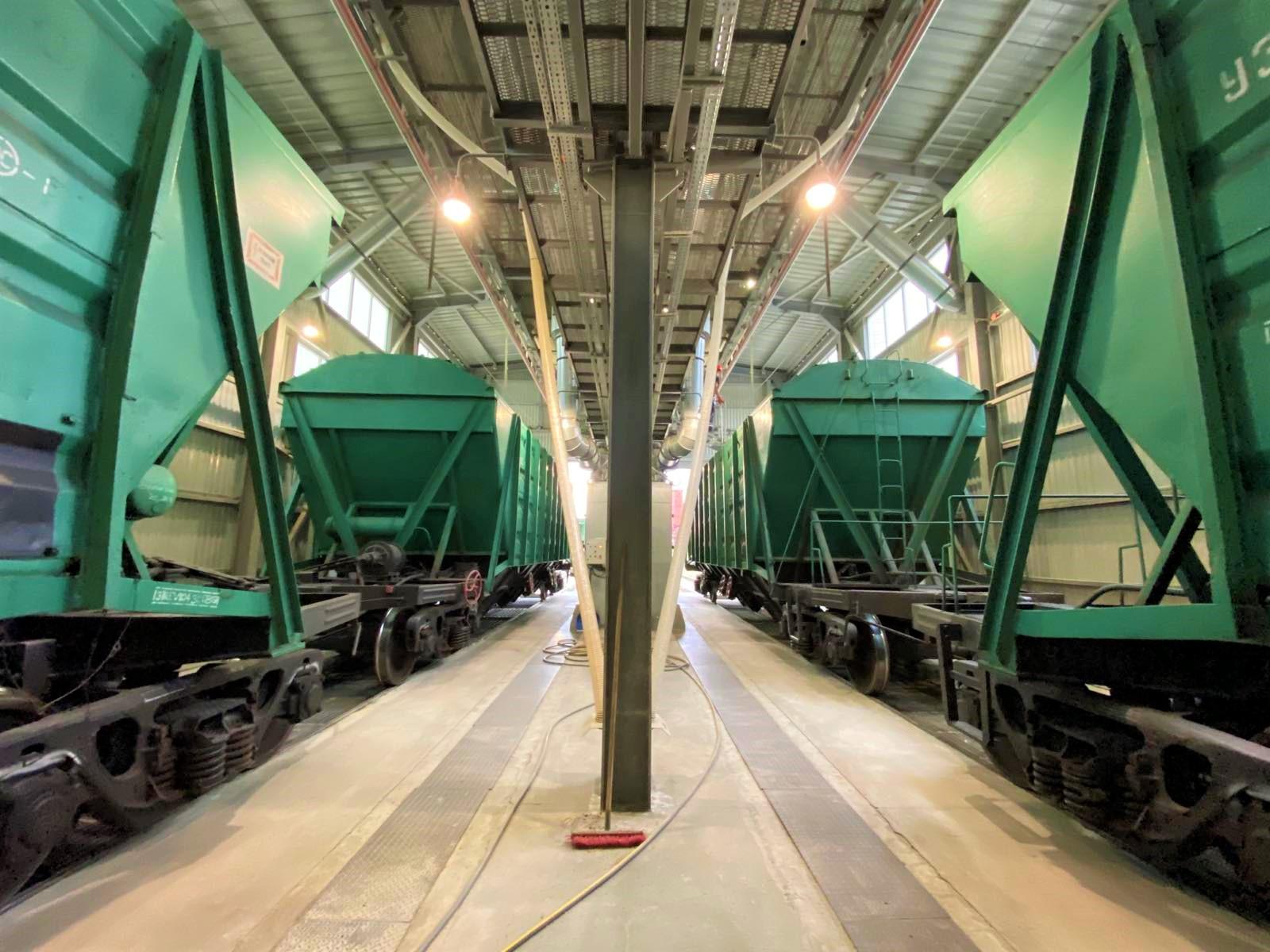 станция выгрузки зерна из ж/д вагонов